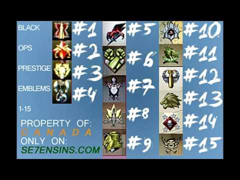 Prestige Emblems Black Ops 1 Black Ops 1-15 Prestige