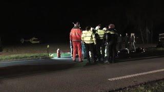 Trauma heli bij ernstig verkeersongeval Asserstraat Zuidvelde