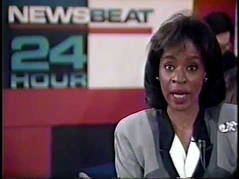 WDIV-TV (Detroit) news break from March 18, 1992 at 4:58am