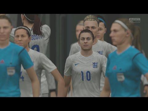EA SPORTS FIFA 16 - England v Canada (Womens) (Rain) Gameplay [1080p 60FPS HD]