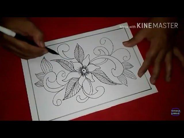 Cara Menggambar Motif Batik Abstrak Batik Abstrak 10 Youtube