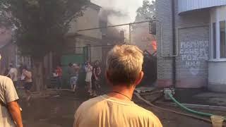 Крупный пожар в Ростове 21.08.2017