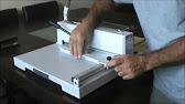 Гильотинный резак для бумаги Steiger M-3715 - YouTube