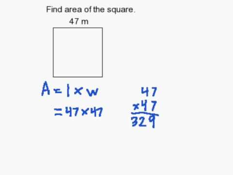 How to Find the Area of a Square  YouTube