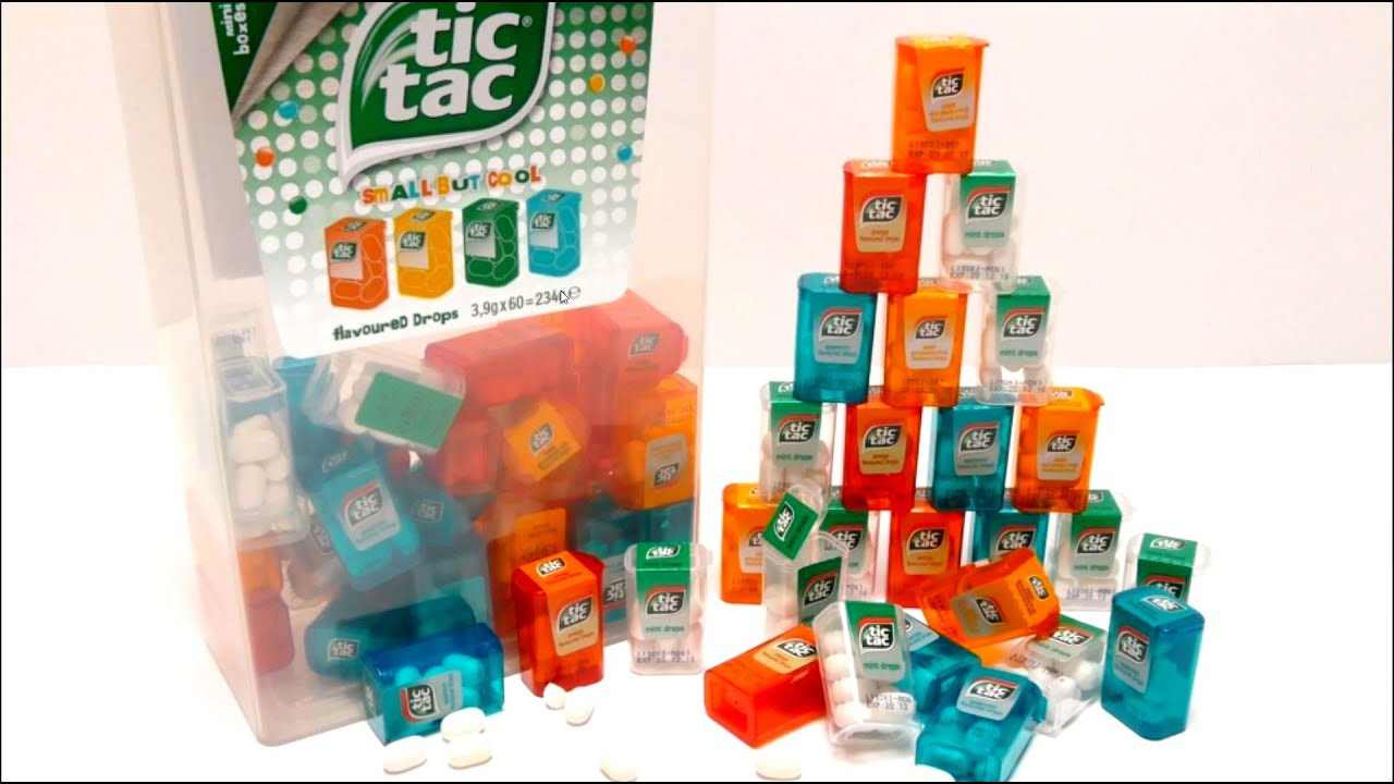 new giant tic tac spender box with 60 mini boxes youtube