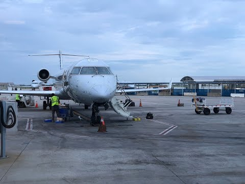 American Airlines A320/CRJ-200 Detroit - Charlotte - Augusta (Flight Experience)