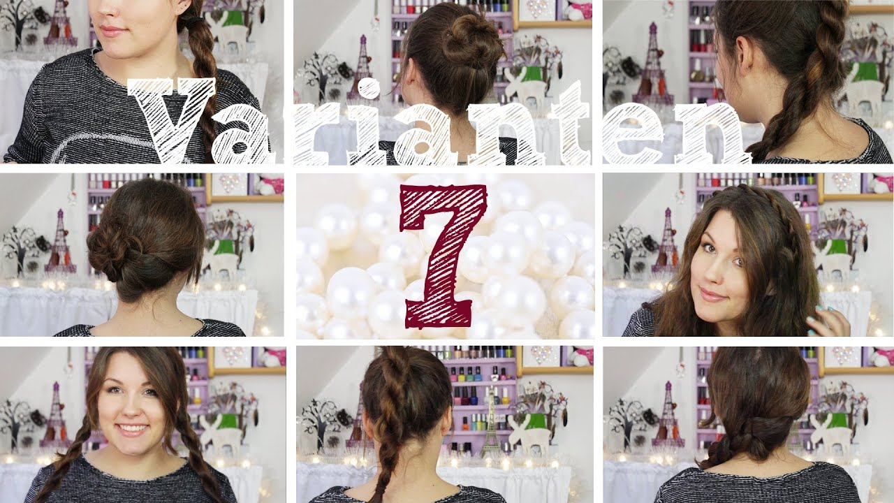 7 Einfache Frisuren Varianten L Kordel Technik YouTube