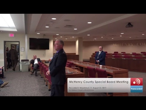 McHenry County Board Meeting August 23, 2017