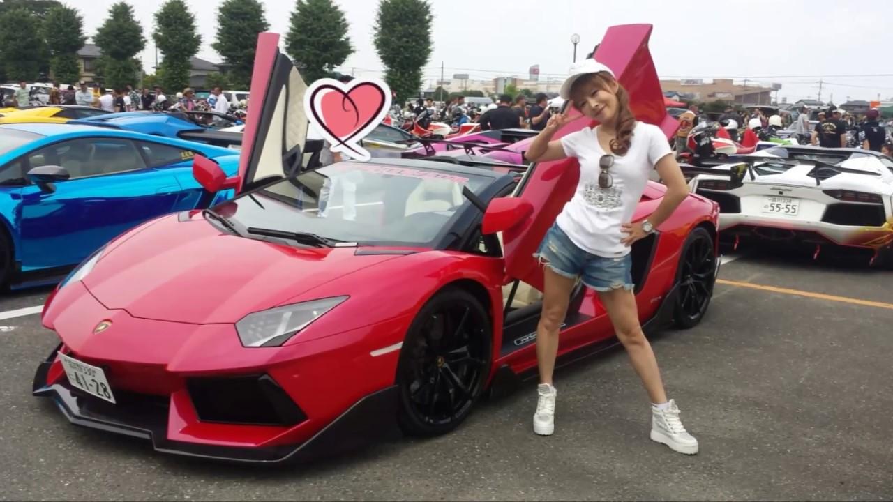 Lamborghini Aventador Beautiful Japanese Girl Youtube