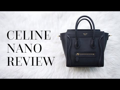 CELINE LUGGAGE NANO REVIEW & TRY-ON