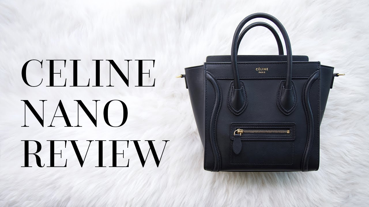 CELINE LUGGAGE NANO REVIEW   TRY-ON - YouTube 70142cc36f7dd