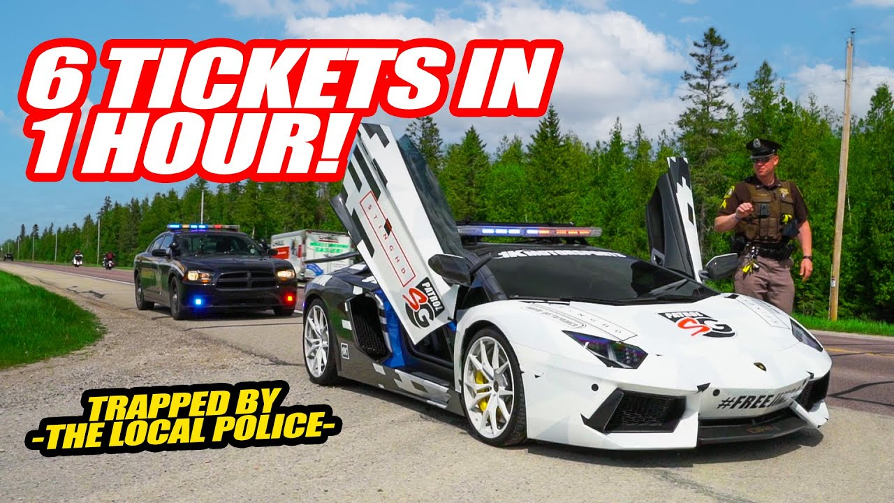 6 SUPERCARS PULLED OVER & 1 IMPOUNDED *IN 1 HOUR* Michigan Police Got Us GOOD...