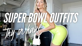 Super Bowl Outfits Try On Haul | Casi Davis