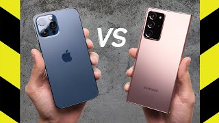 iPhone 12 Pro Max vs. Note 20 Ultra Drop Test