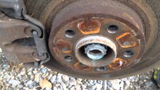 BMW X5 e53 CV Front axle shaft removal replacement DIY