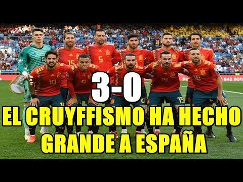 ESPAÑA 3-0 SUECIA. EL CRUYFFISMO HA LLEVADO A ESPAÑA A UN RENDIMIENTO REGULAR EXCELENTE
