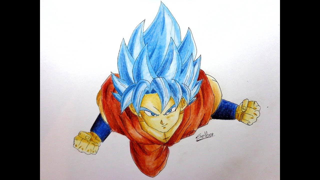 C mo dibujar a goku ssj dios dragon ball super selbor - Imagenes de dragon ball super descargar ...