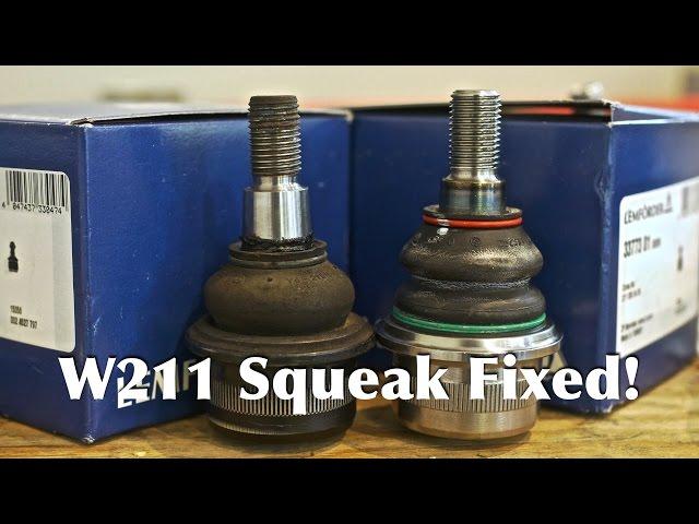 Mercedes E-Class W211 Suspension Squeak Fix | Ball Joint & Control