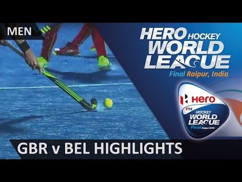 Great Britain v Belgium Match Highlights   #HWL2015 #Raipur