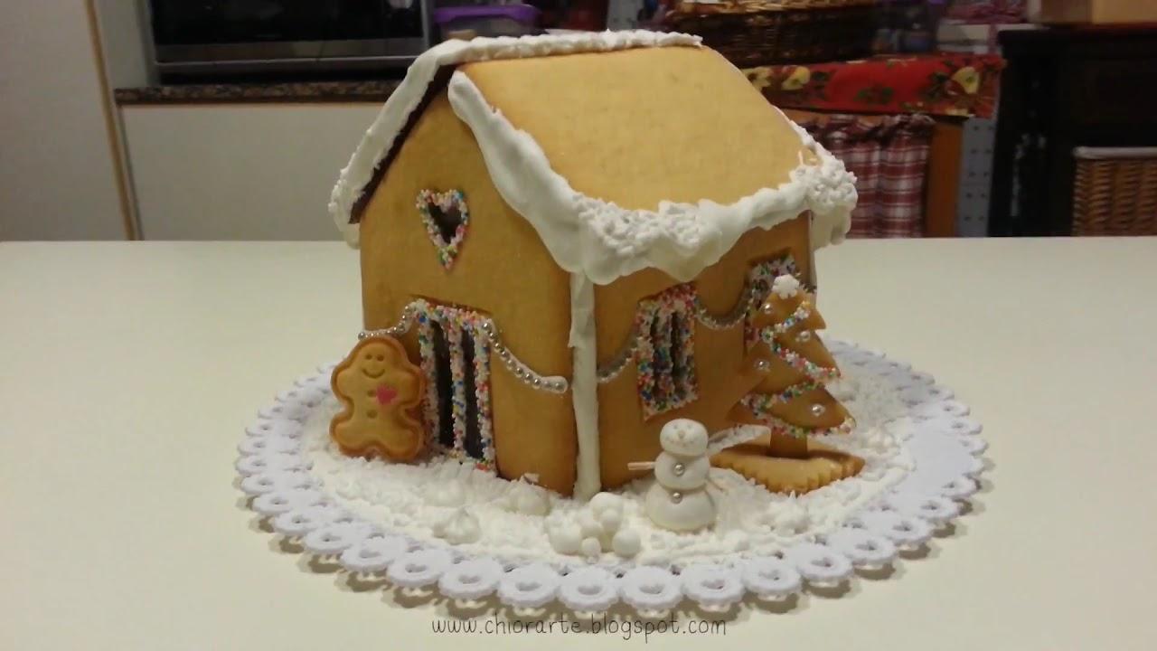 Casetta Di Natale Da Colorare : Decorare una casetta di pasta frolla chiorarte© youtube