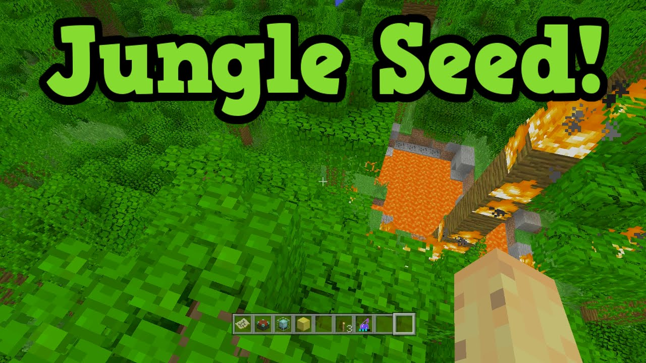 Minecraft Xbox 9 / PS9 Jungle Seed W/ MASSIVE Biomes