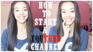 How To Start a YouTube Channel! Thumbnail