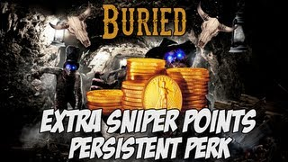 Black Ops 2: Buried Zombies - Extra Sniper Points Persistent Perk | Insane Point Builder!