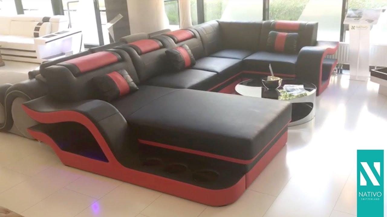 0c44102868e7c7 NATIVO Möbel Österreich - Designer Sofa HERMES XL mit LED Beleuchtung