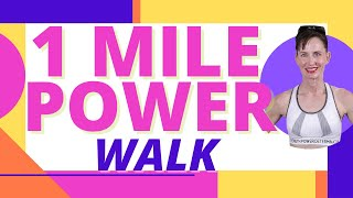 16 MINUTE WORKOUT| 1 MILE POWER WALK -LEG FIRMING EXERCISES| INDOOR WALKING | WALKING VIDEO | AFT