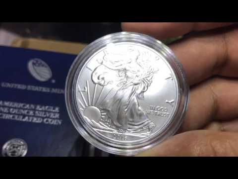 2016 30th Anniversary American Silver Eagle Uncirculated Lettered Edge Coin