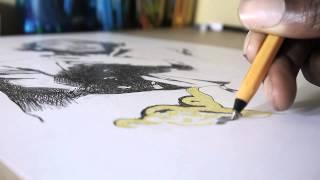 JIMI HENDRIX - Ballpoint Pen Drawing