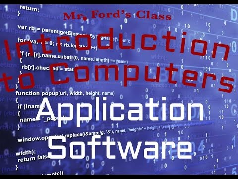 Computer Software : Application Software (03:05)