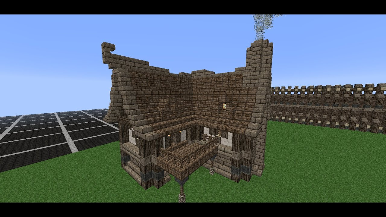 Minecraft medieval house tutorial how to build a house for What to do to build a house