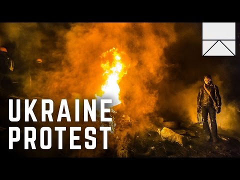On The Frontlines Of Ukraine's Anti-Russia Protests