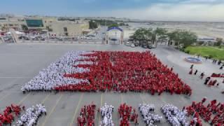 BahrainFlag Formation By Indian School Bahrain, RiffaCampus