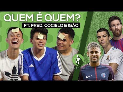 DESAFIO QUEM SOU EU DO FUTEBOL ft JULIO COCIELO, FRED DESIMPEDIDOS E IGÃO
