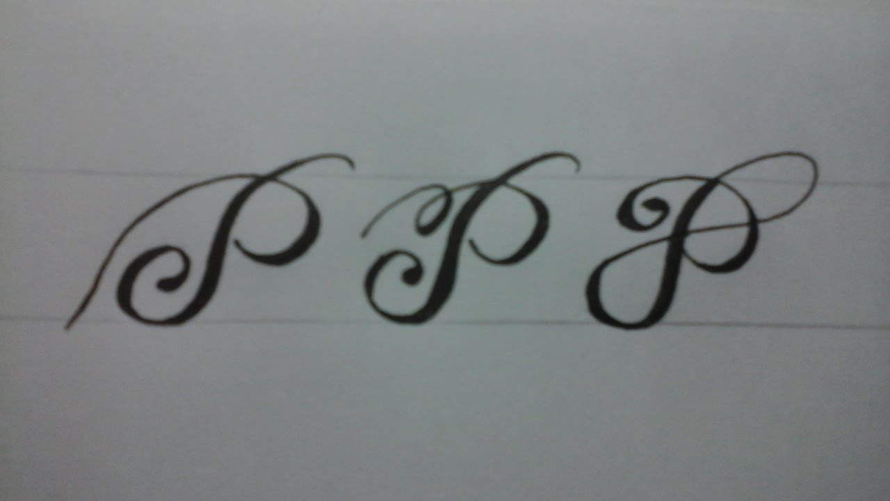 Calligraphy Letter P With Normal Pen