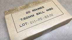 7.62x51mm, 147gr FMJ, M80 Ball Poonsang Surplus (PMC) Velocity Test