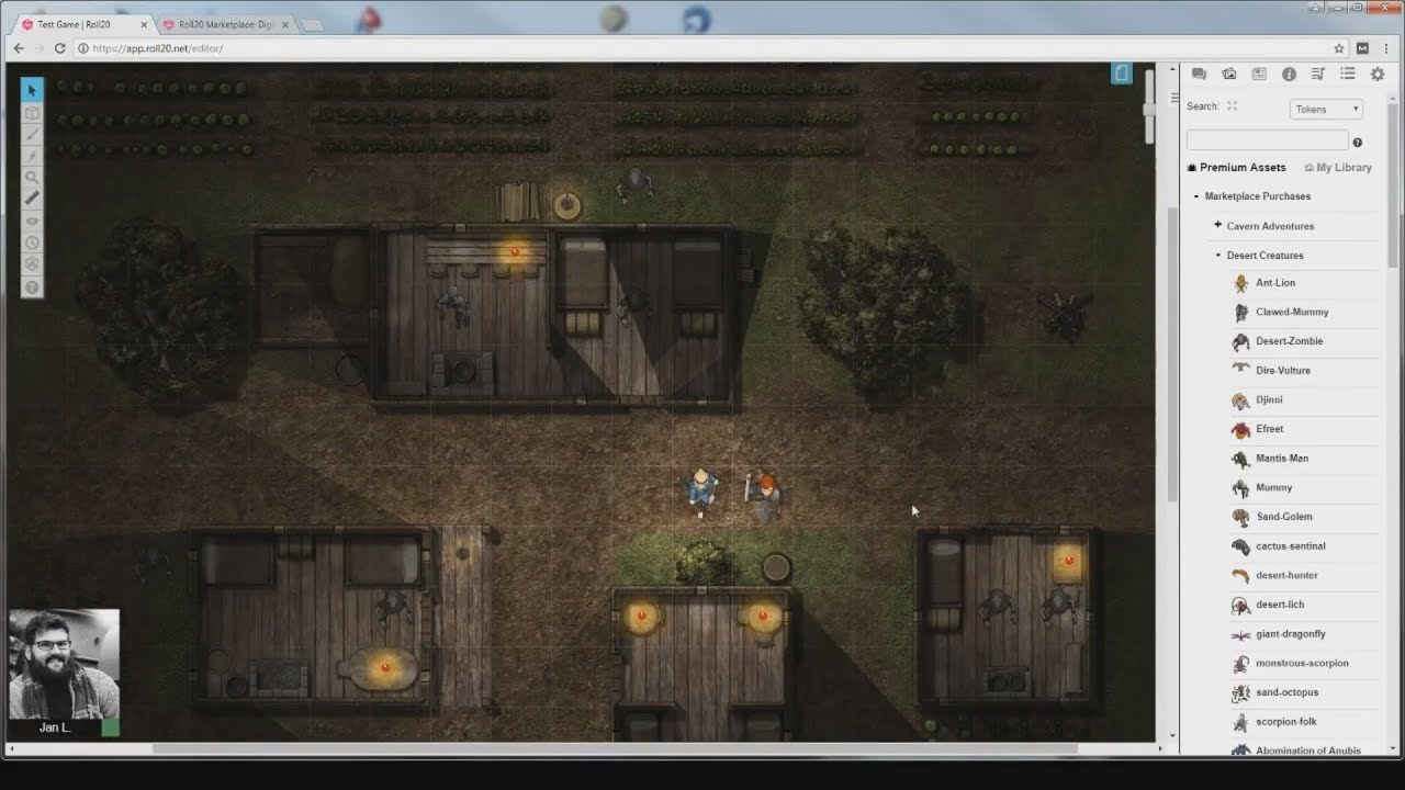 Using Dynamic Lighting in Roll20 - Night Map - YouTube