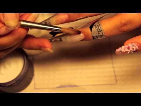 acrylic nails  sculpting extra length on short nails