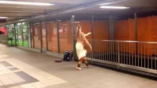 Indian classical dance at Roosevelt Ave. subway station, NYC