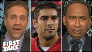 Max Kellerman defends Jimmy Garoppolo to a doubtful Stephen A. | First Take