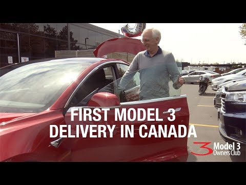 First Model 3 Delivery in Canada
