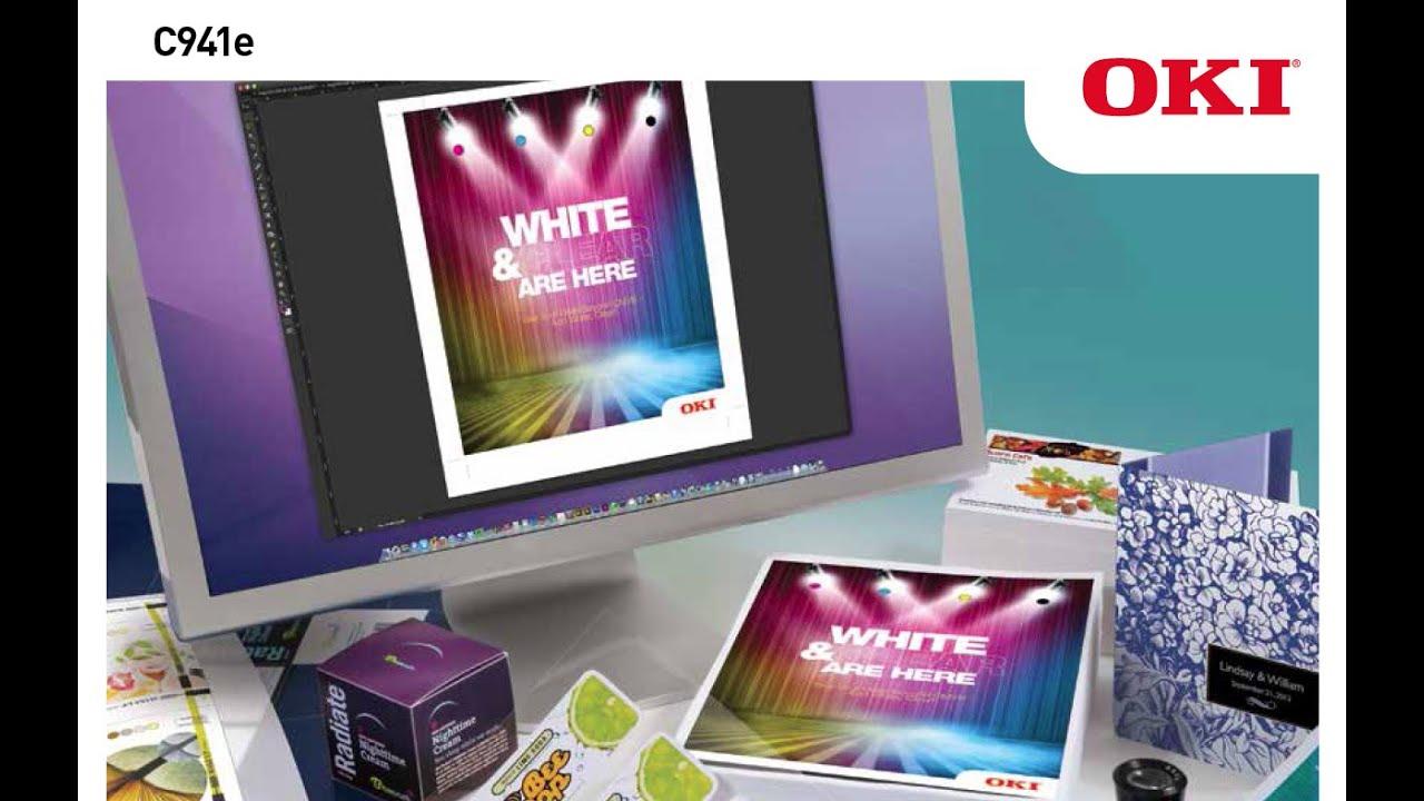 Oki c941e adds 5 color true 1200 x 1200 dpi high resolution digital