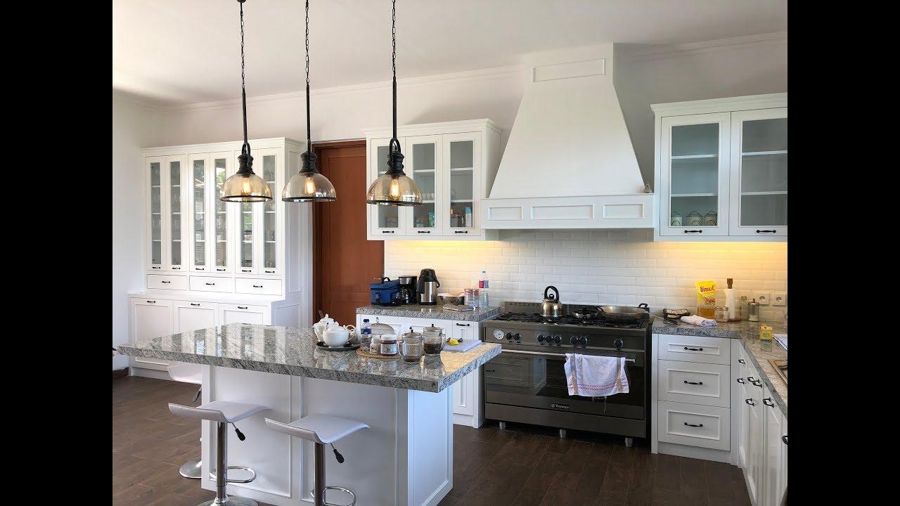 Desain Kitchen Set Klasik Minimalis Finishing Duco Putih ...