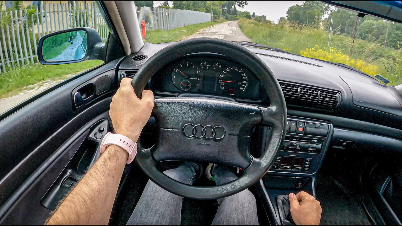 1995 Audi A4 B5 [1.8 125 HP]  0-100  POV Test Drive #810 Joe Black