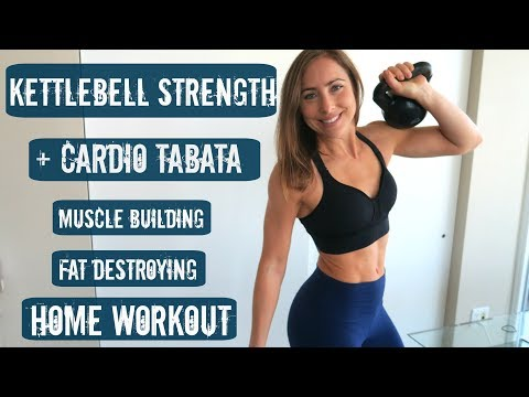 👊🏼 BUILD MUSCLE 💪🏻 SHRED FAT 💦 FULL BODY Kettlebell + Tabata Workout