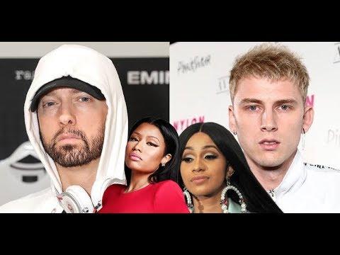 MGK TEASES Eminem Says YOU MISSED, Cardi B Laughs About Nicki Minaj Incident using Blood Lingo