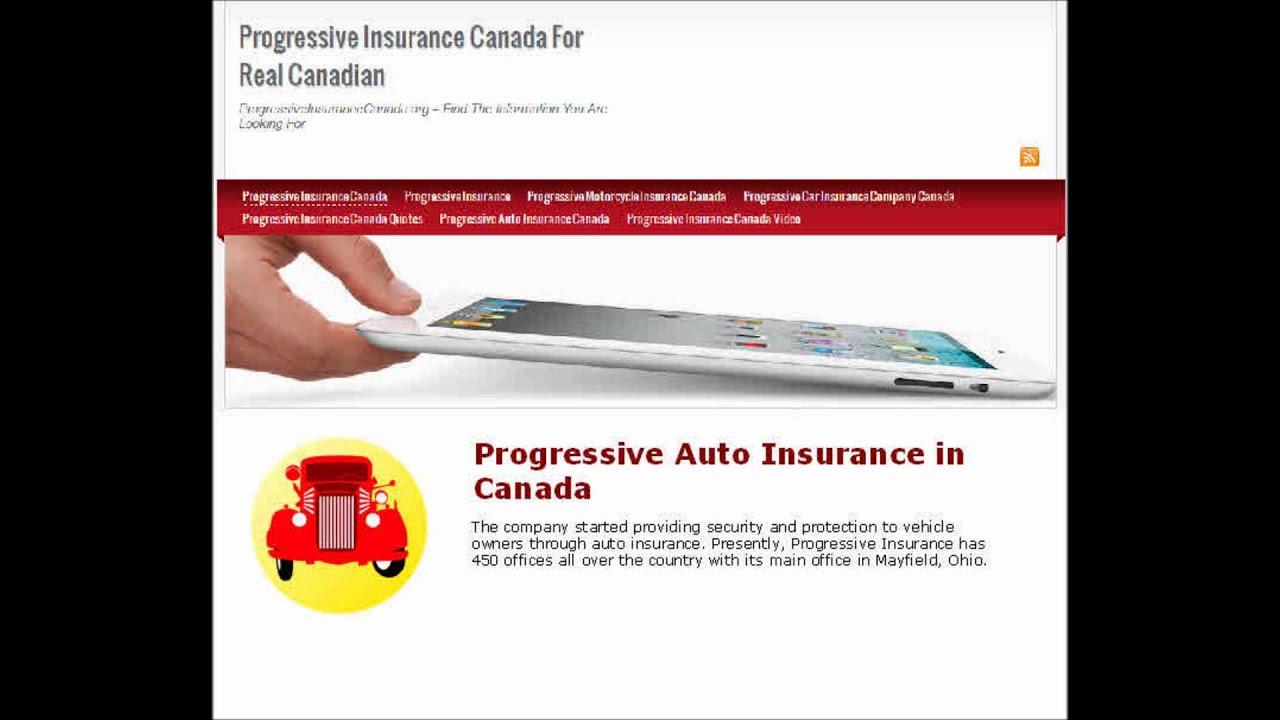 Progressive Retrieve Quote Progressive Auto Insurance In Canada  Youtube