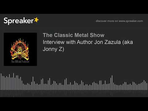 Interview with Author Jon Zazula (aka Jonny Z)